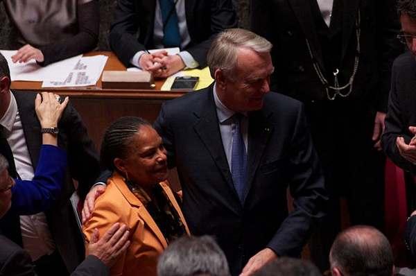 Photo de Christiane Taubira à l'Assemblée Nationale