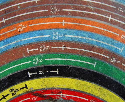 Echelle avec nombres colorés