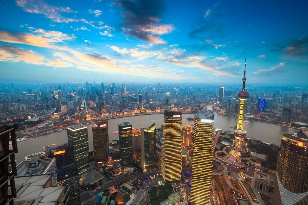 Panorama de la ville de Shangai