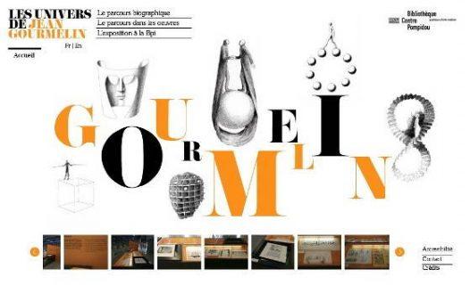 page d'accueil de l'exposition Les univers de Jean Gourmelin