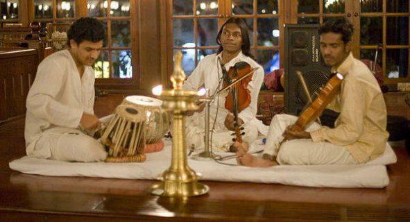 Groupe de musiciens de l'Inde du sud
