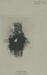 estampe noir et blanc par Odilon Redon