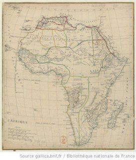 Carte de l'Afrique de d'Anville, 1750