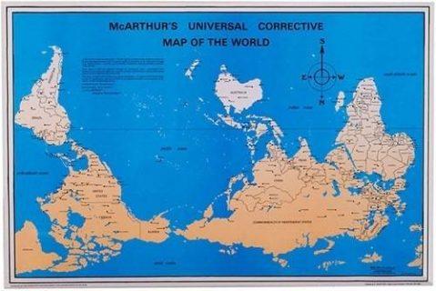 Carte du monde de Stuart Mc Arthur
