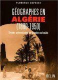 couverture Géographes en Algérie