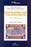 couverture Géographies des colonisations
