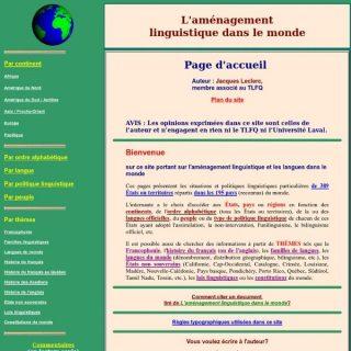 Image du site L'aménagement linguistique dans le monde