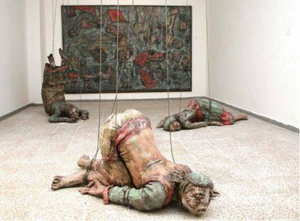 sculpture et tableau de Ramda Mdah