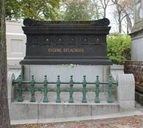 photographie du tombeau de Delacroix