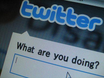 Twitter sur un écran