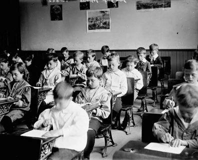 Photographie de la classe de garçons