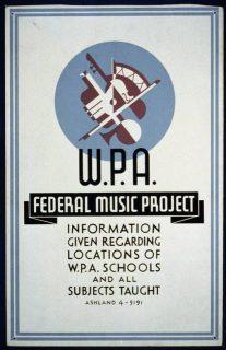 Affiche du programme d'aide à la musique