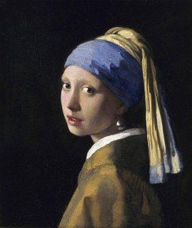 Image du tableau de J. Vermeer : La jeune fille à la perle