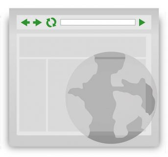 icône d'un navigateur ouvert