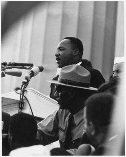 Martin Luther King lors de son discours le 28 août 1963