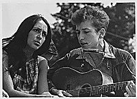 Photo de Bob Dylan et Joan Baez