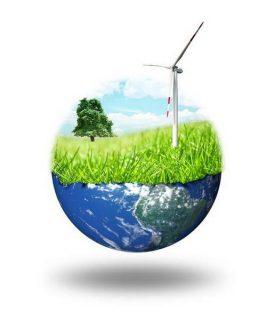 terre et éolienne