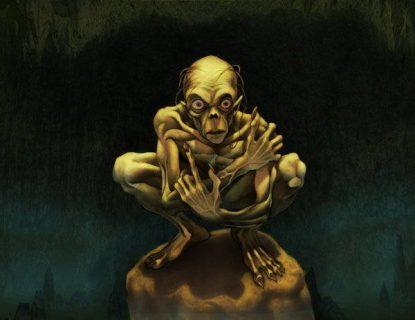 Dessin du Gollum inspiré du légendaire de J.R.R. Tolkien