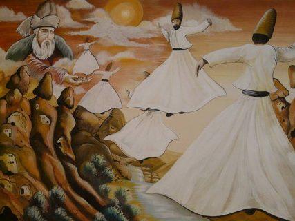 représentation de derviches tourneurs (danseurs turcs)