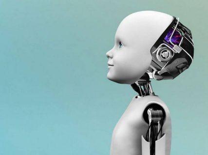 image numérique d'un enfant-robot