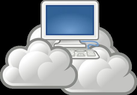 un ordinateur dans les nuages