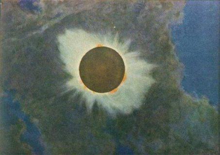 tableau d'une éclipse de HR Butler