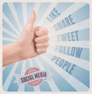"image retro symbole du share social ""like"""