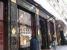 Entrée de la boutique Cartier