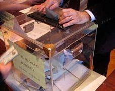 Photographie d'une urne de vote