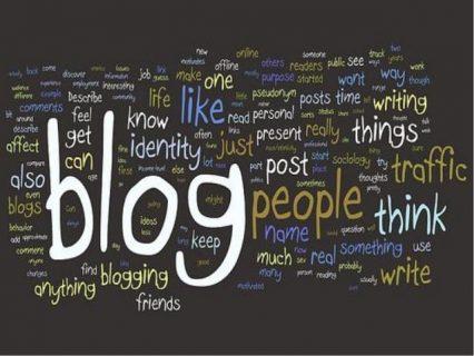 nuage de mots autoure du mot blog