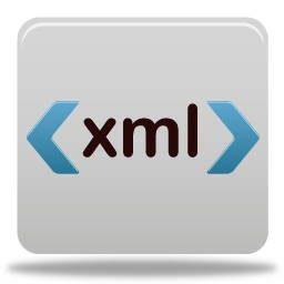 image numérique d'une balise Xml