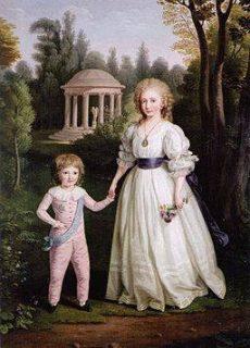 Marie-Antoinette et Louis Charles de France