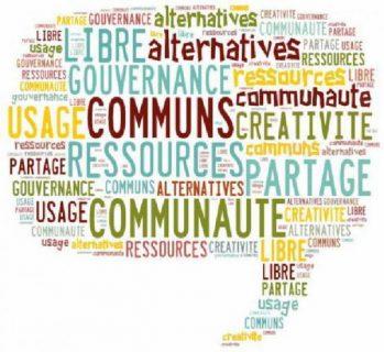 nuage de mots clés sur les communs