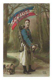 Soldat au drapeau français