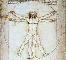L'homme de Vitruve dessiné par de Vinci
