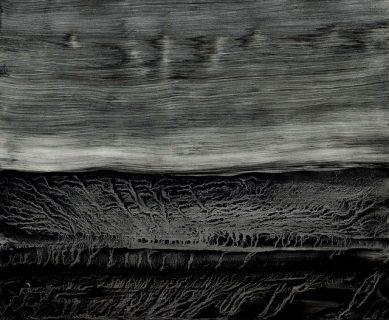 Peinture noire par strates