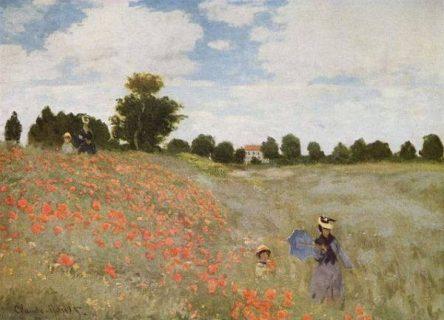 """Tableau """"Les Coquelicots"""" de Claude Monet"""