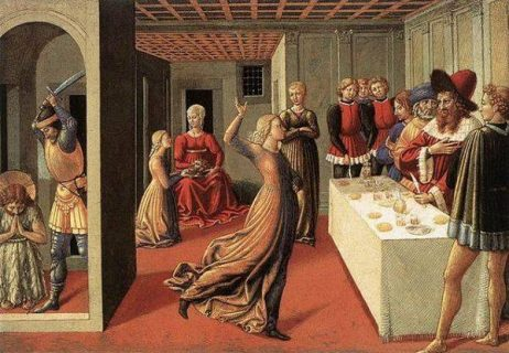 "Tableau ""The dance of Salome"", Benozzo Gozzoli"