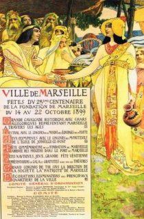 Affiche pour le 25ème centenaire de la fondation de Marseille.