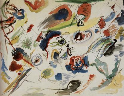 Première aquarelle abstraite, par Kandinski