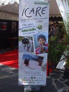 Affiche du festival ICARE sur le tourisme responsable