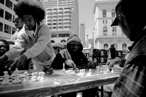 Partie d'échecs à Market Street à San Francisco