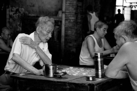 Photographie de joueurs de xiangqi