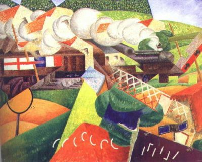 "Oeuvre ""Train"" de Gino Severini"