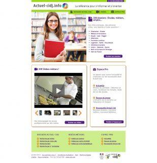 Image d'accueil du site Actuel-Cidj.info