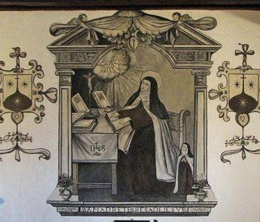 Peinture de Thérèse d'Avila réalisée de son vivant, Entrée du monastère de l'Incarnation, Ávila