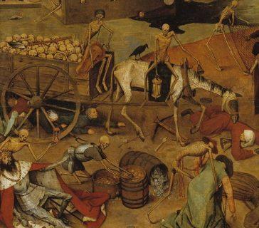 Détail du tableau «Le triomphe de la Mort» par Pieter Brueghel