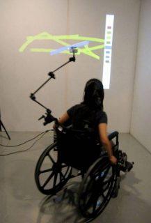 Femme dans un fauteuil roulant