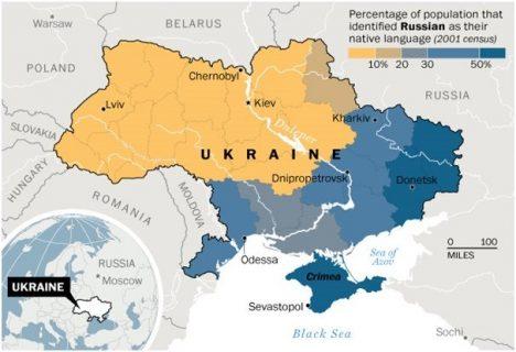 Carte des langues maternelles en Ukraine