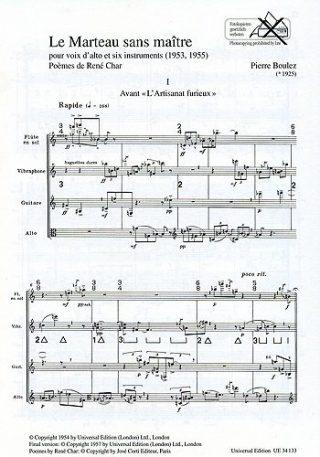 Le marteau sans maître : pour voix d'alto et 6 instruments